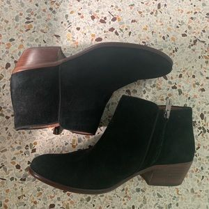 Sam Edelman Petty Ankle Bootie Black Suede